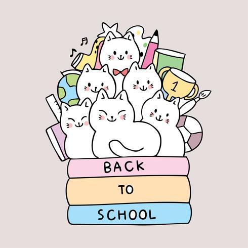 ritorno a scuola libro di lettura di gatti