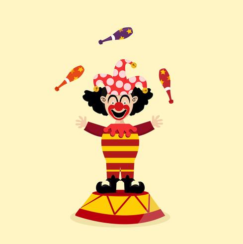circus clown jongleur vector