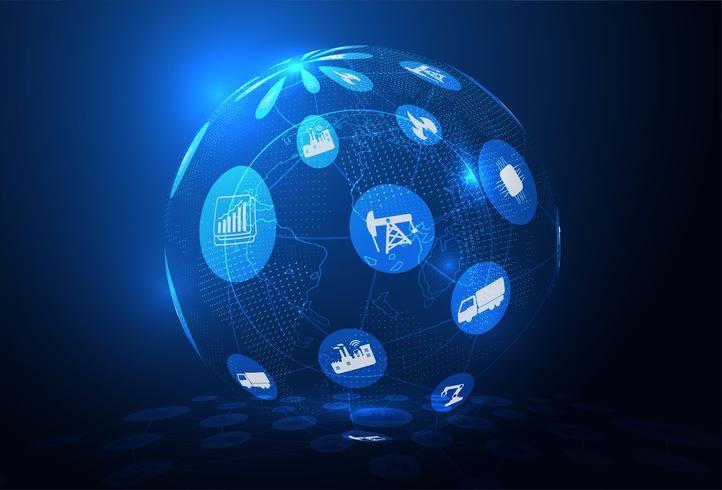 Connexion réseau globale vecteur