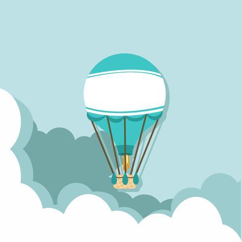 varmluftsballong på himlen