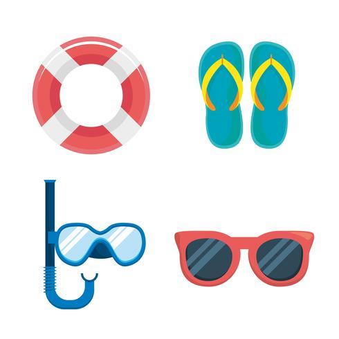 Set zomervakantie objecten