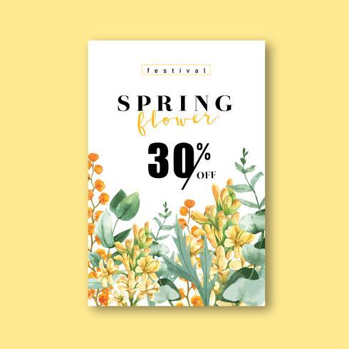 Vårens färska blomma försäljning affisch