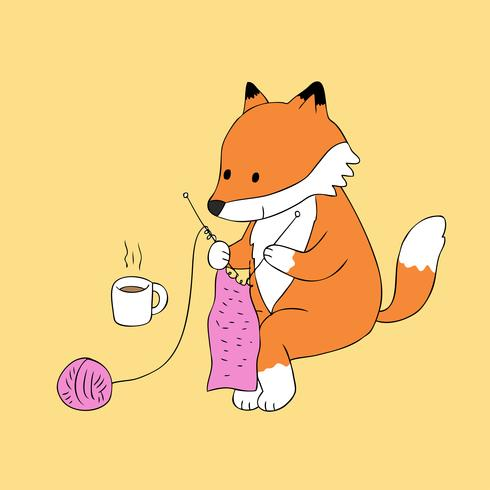 red fox knitting