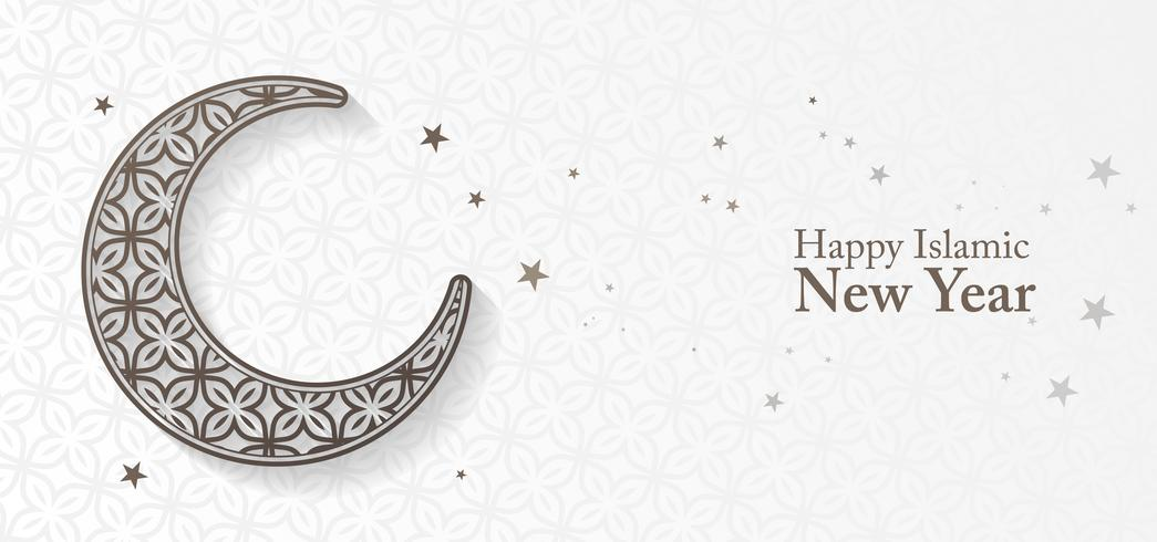 Fondo islamico del nuovo anno con la luna