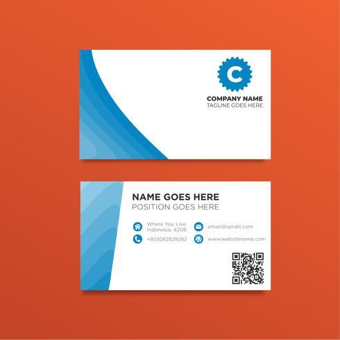 Modello di biglietto da visita blu semplice