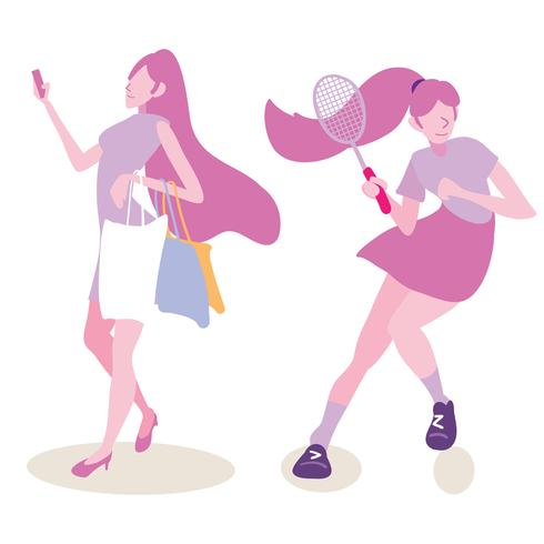shopping e stile di vita sportivo di una donna