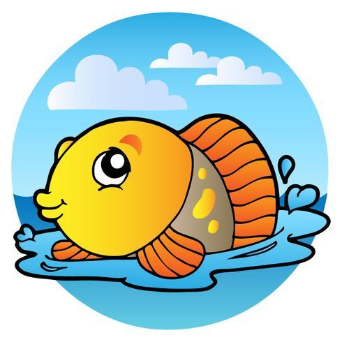 Stile Cartoon Pesce Giallo