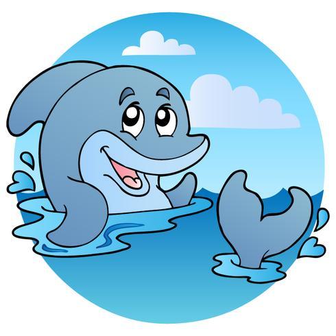 Cartoon stijl walvis