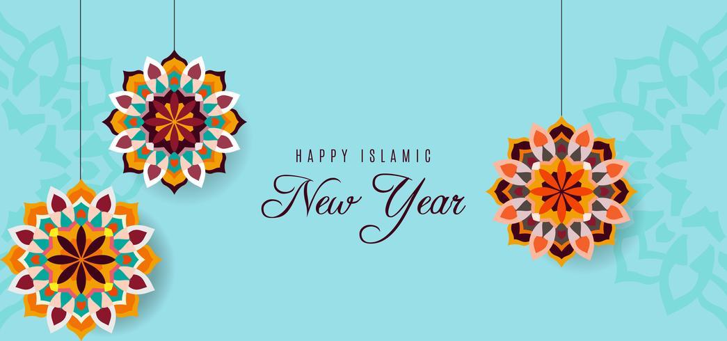 Felice nuovo anno hijri saluto design