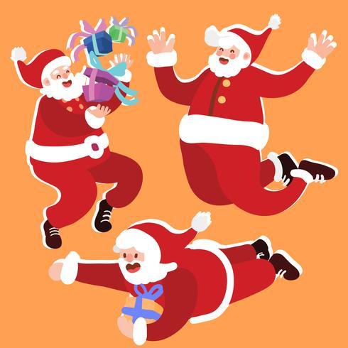 Kerstman illustratie set