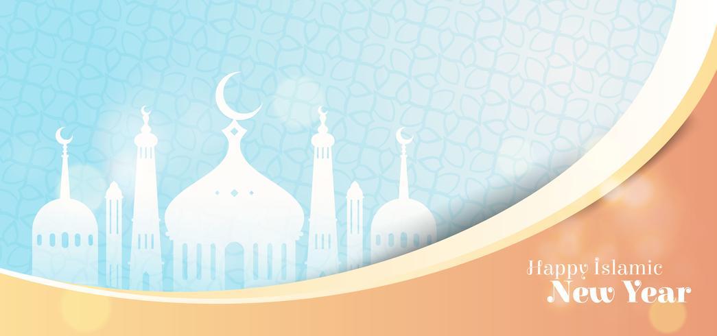 Islamisk hälsning för nytt år i vintagestil