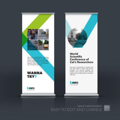 Design moderno con supporto per banner roll up