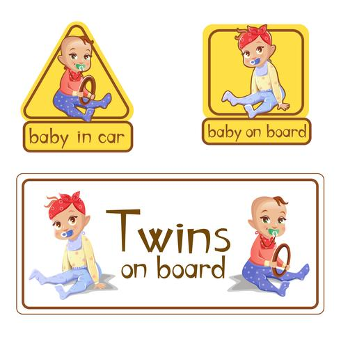 Bil klistermärken baby ombord