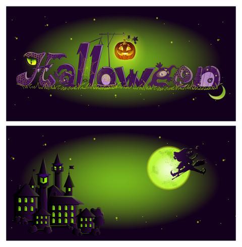 Halloween banner sjabloon