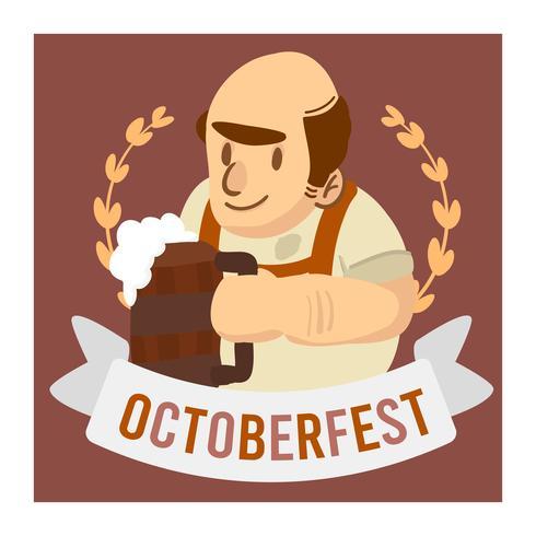 Oktoberfest firande gammal man som håller ölbaner