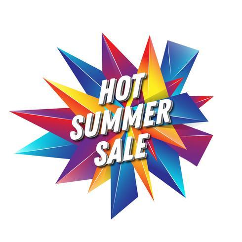Progettazione calda dell'insegna del testo di vendita di estate