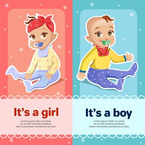 Progettazione della cartolina d'auguri della doccia del neonato