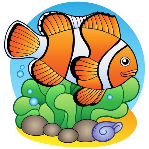 Pesce rosso stile cartone animato