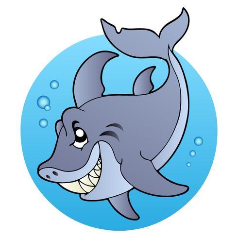 Cartoon stijl Mad Shark