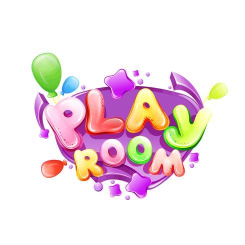 Modello di segno di sala giochi per bambini