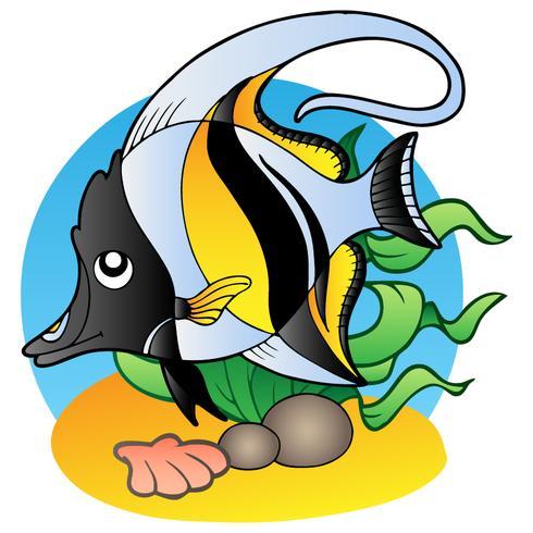 Stile Cartoon Pesce Colorato