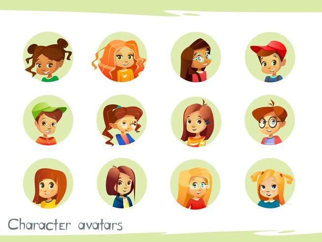 Avatar di personaggi per bambini