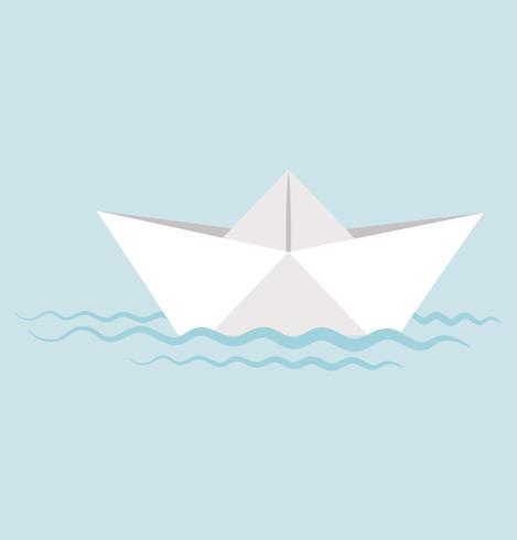 Paper boat  in water vector