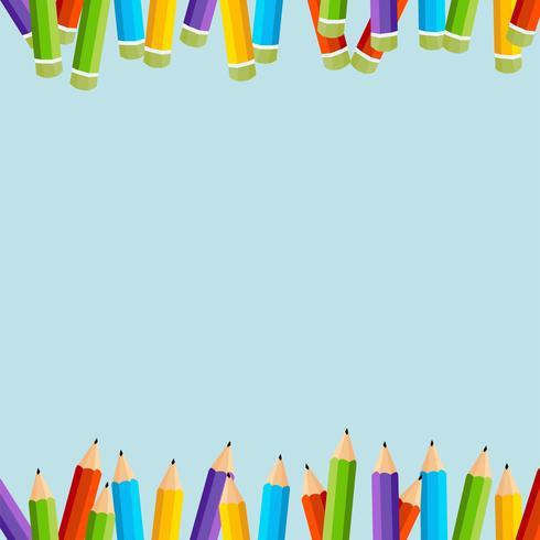sfondo di matite colorate
