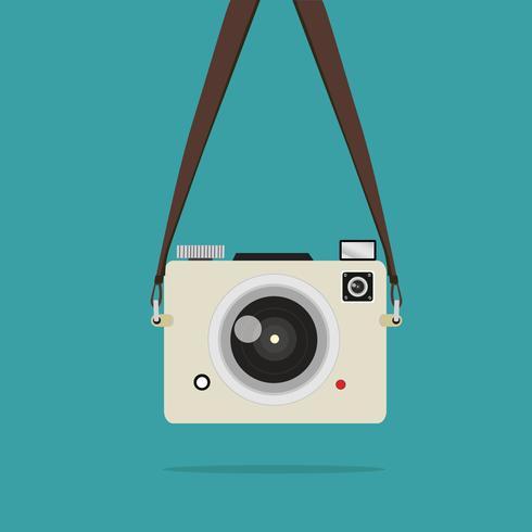 hängande kamera foto mini vektor