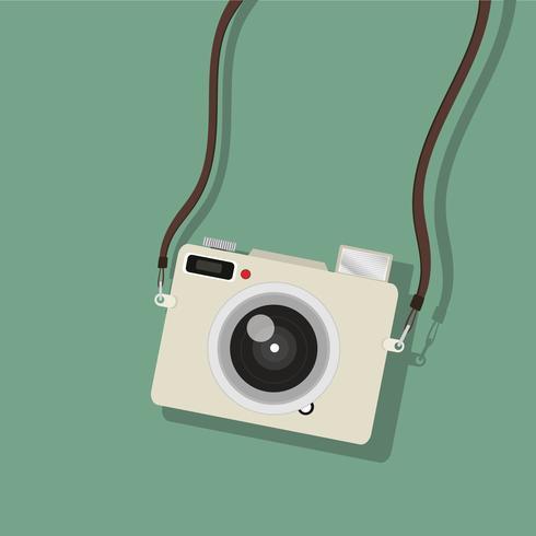 mini fotocamera sospesa vettore