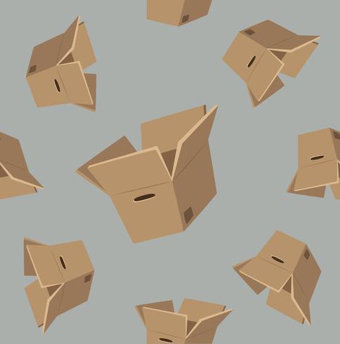 Kartonnen dozen patroon