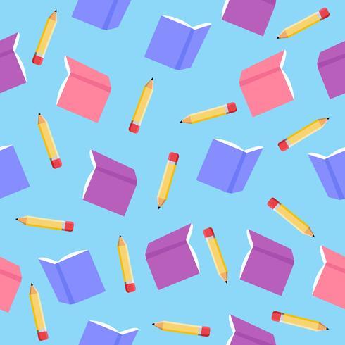 boekpatroon met potloden