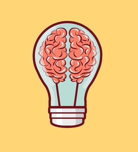 Cerebro creativo vector