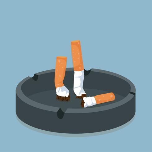 Sigaret in asbak vector