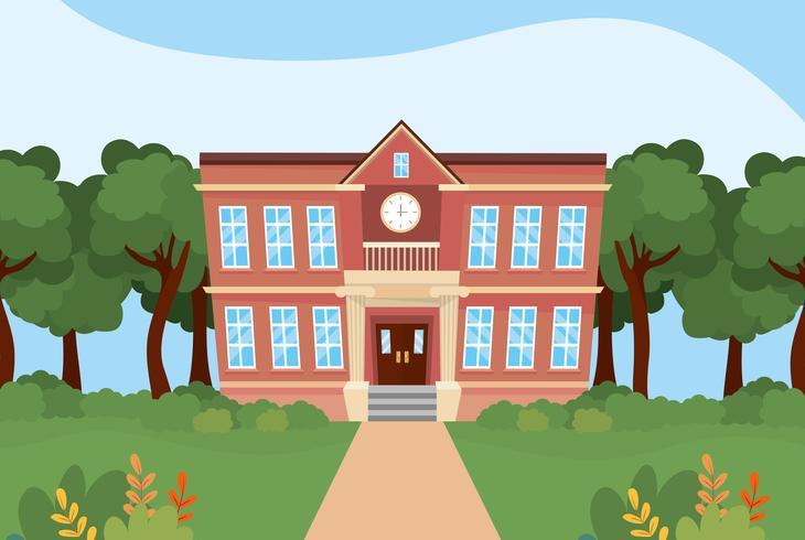 Fuori dall'edificio scolastico