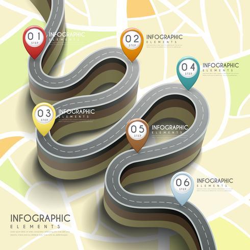 Roadmap e navigazione Progettazione creativa di infografica