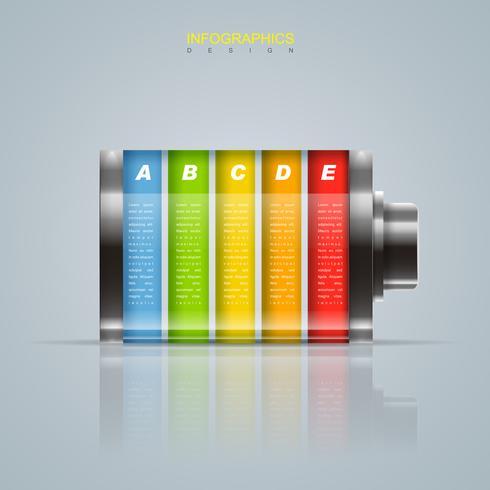 Batteria Infografica creativa