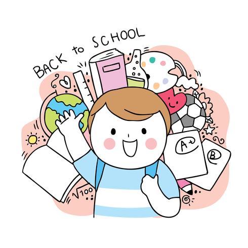 de volta ao menino da escola