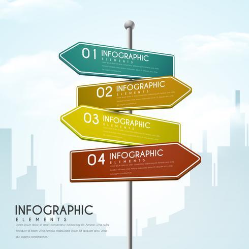 Progettazione creativa di Infographic dei segnali di direzione