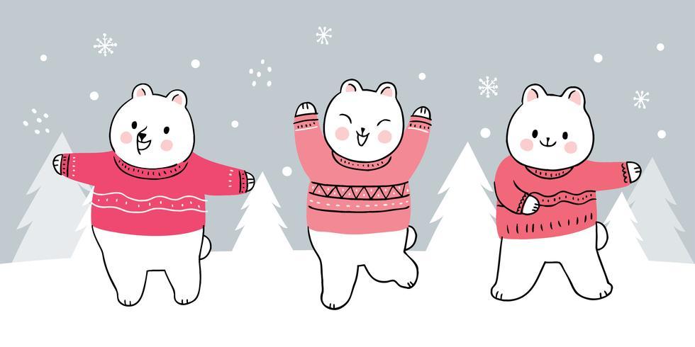 ursos de inverno dançando