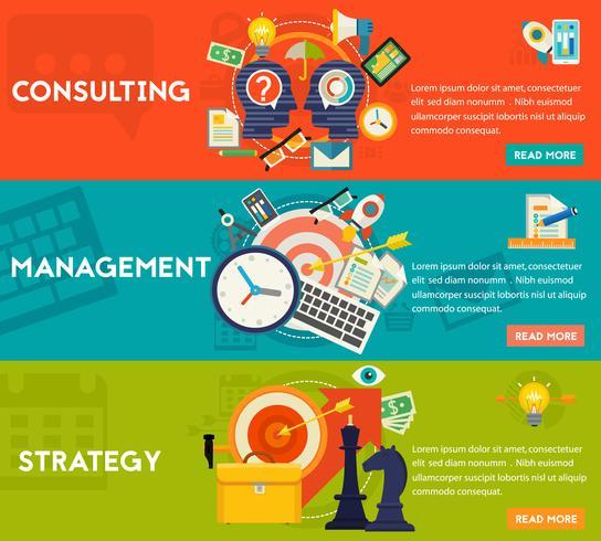 Concetto di consulenza, gestione e strategia