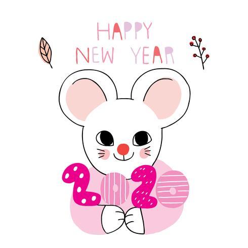 nieuwe jaar 2020 muis
