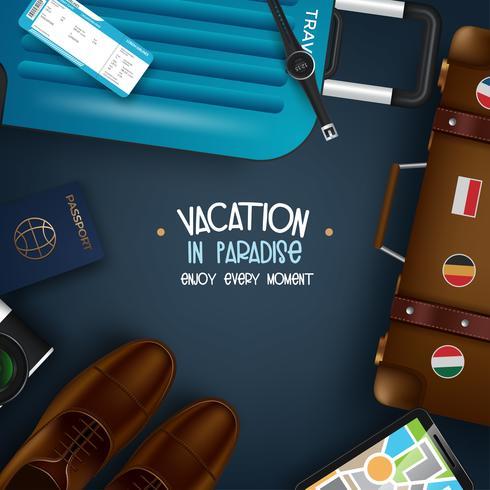 Viajando por el mundo vector