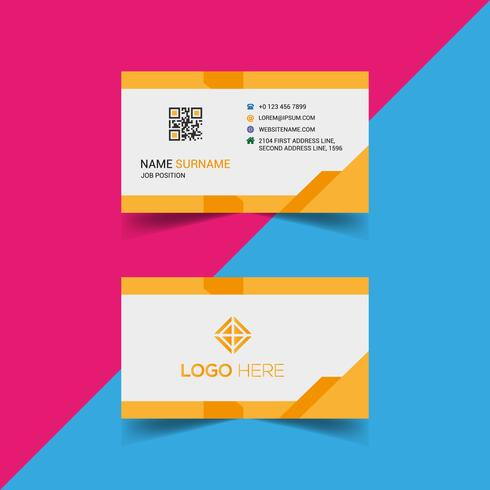 Yellow Business Card Design Template