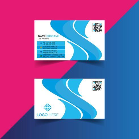 Plantilla de diseño de tarjeta ondulada vector