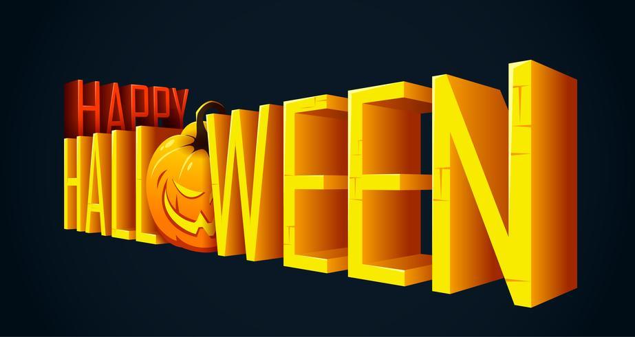 Banner di testo di Halloween