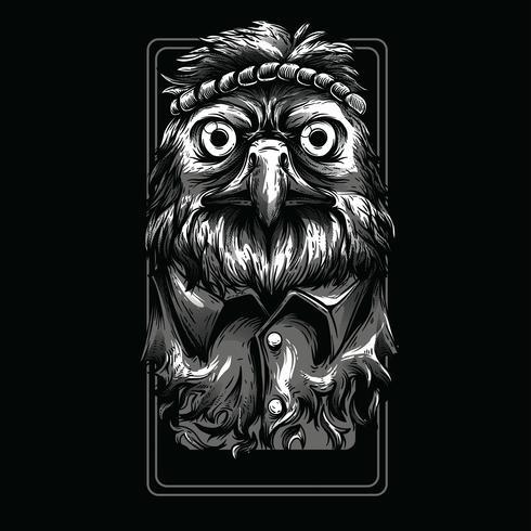 swag dierlijk zwart-wit het ontwerp van de illustratiet-shirt vector