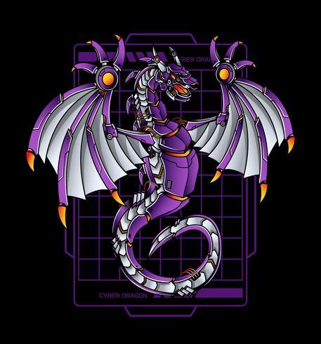 ilustração de robô de dragão