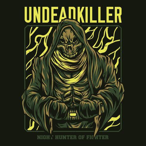 undead killer illustration tshirt design
