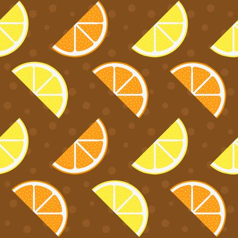 Modello di limone e arancia